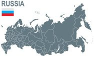 Russia,Map,Vector,Flag,Comp...