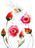 Watercolor Painting,Butterf...