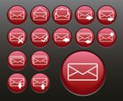 E-Mail,Icon Set,Red,Circle,...