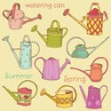 Watering Can,Ilustration,Ve...