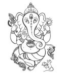 Lotus Position,Ganesha,Lotu...