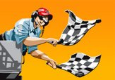 Sports Race,Checkered Flag,...