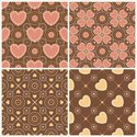 Brown,Heart Shape,Pink Colo...