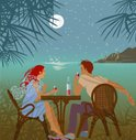 Vacations,Couple,Moon,Drink...