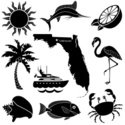 Florida,Palm Tree,Icon Set,...