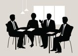 Business Meeting,Silhouette...