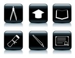 Icon Set,Learning,Black And...