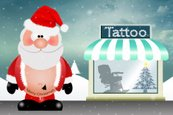 Tattooing,Santa Claus,Happi...