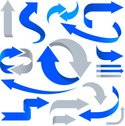 Arrow Symbol,Blue,Curve,Com...