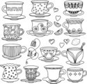 Tea Cup,Retro Revival,Old-f...