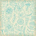 Pattern,Textile,Blue,Backgr...