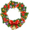 Wreath,Christmas,Isolated,N...