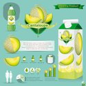 Cantaloupe,Packaging,White,...