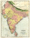 Map,Cartography,India,Major...