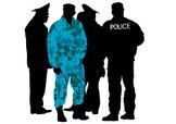 Police Force,Silhouette,Arr...
