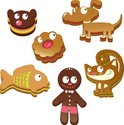 Gingerbread Cookie,Dog,Smil...