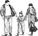 Family,Sketch,Drawing - Art...