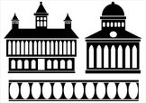 Mansion,Silhouette,Outline,...