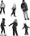 Child,People,Winter,Sketch,...