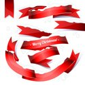 Ribbon,Flag,Red,Curled Up,Sin…
