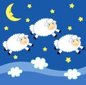 Sheep,Lamb,Sleeping,Moon,C...