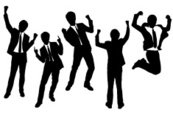 Business,Jumping,Silhouette...