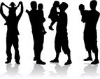 Silhouette,Little Boys,Men,...