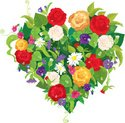 Heart Shape,Bouquet,Painted I…