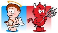 Devil,Angel,Demon,Cartoon,C...