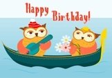 Love,Birthday,Owl,Gondola -...