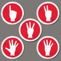 Index Finger,Direction,Red,Te…