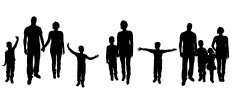 Silhouette,Father,Mother,Ba...