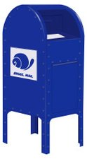 Mailbox,Snail,Mail,Blue,USA...
