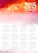 Calendar,Triangle,2015,Back...