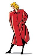 Coat,Red,Adult,Illustration...