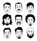 Men,Human Hair,Beard,Vector...