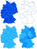 Germany,Map,Cartography,Sil...