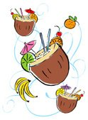 Coconut,Drink,Cocktail,Alco...