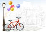 Bicycle,Ilustration,Drawing...