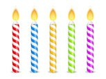 Birthday Candles,Isolated,W...