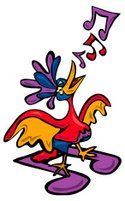 Rooster,Singing,Mockingbird...