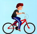 Bicycle,Child,Riding,Vector...