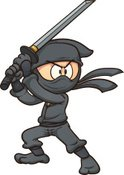 Ninja,Vector,Sword,Black Co...