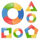 Puzzle,Circle,Infographic,V...