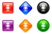 Microphone,Symbol,Icon Set,...