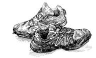 Sports Shoe,Sketch,Old,Sho...