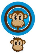 Monkey,Ape,Primate,Cartoon,...