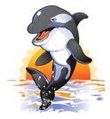 Whale,Killer Whale,Cartoon,...