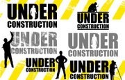 Construction Worker,Silhoue...