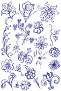 Design,Blue,Pattern,Leaf,Pe...